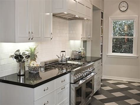 black and white kitchen floor white kitchen cabinets with