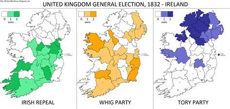 1832 election map irish political maps 1832 uk general election in ireland