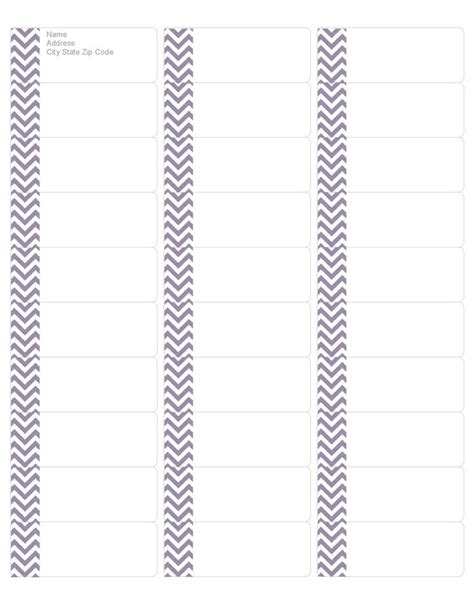 avery template 5162 your free purple chevron address labels