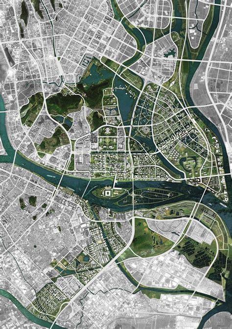kngo3 2 jpg map pinterest map design graphics and shunde city master plan oma location shunde city