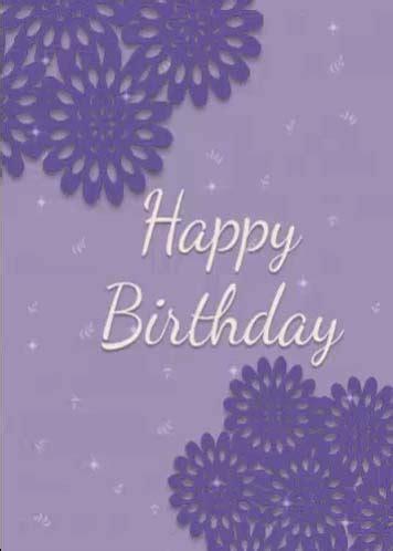 Happy Birthday To You Purple Flowers. Free Happy Birthday