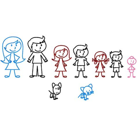 Stick Family Machine Embroidery Design For Gold Members Family Designs