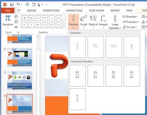 math themes for powerpoint 2010 how to add math expressions and equations in powerpoint 2013