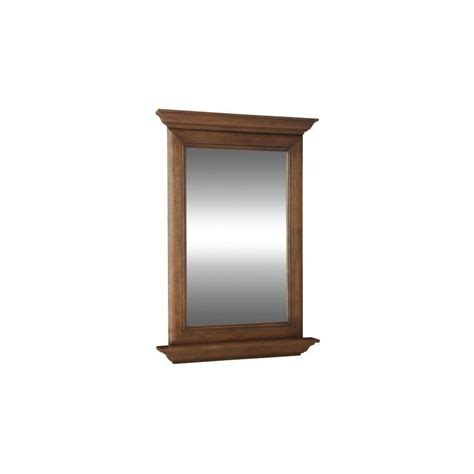 Allen Roth Bathroom Mirrors Allen Roth Ballantyne 34 In H X 25 In W Mocha With Glaze Rectangular Bathroom Mirror