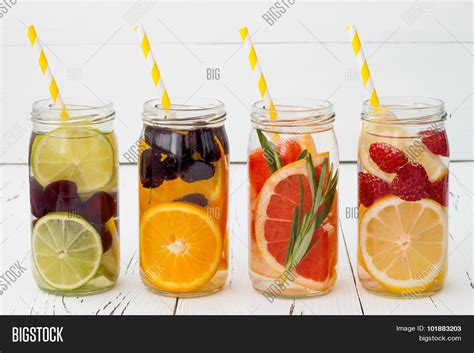 Fruit Flavored Water Detox by Detox Fruit Infused Flavored Water Image Photo Bigstock