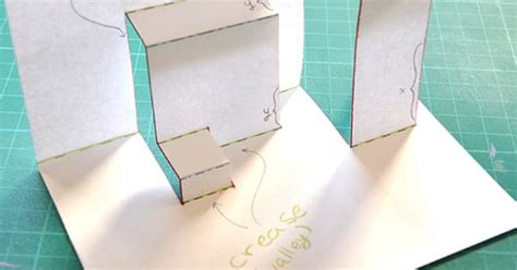 pattern for fold up box pop up tutorial 2 asymmetric box fold box cards and