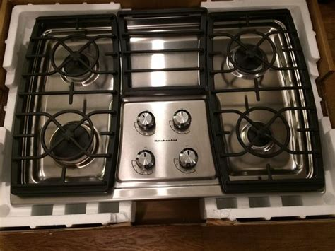 kitchenaid 30 inch 4 burner gas stainless steel cooktop