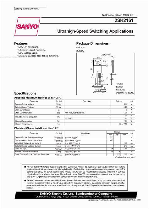 transistor k2161 k2161 138178 pdf datasheet ic on line
