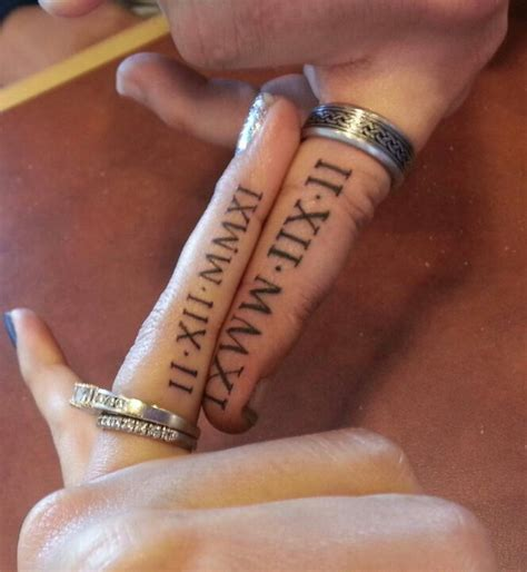 wedding ring finger tattoos 30 numeral tattoos hative