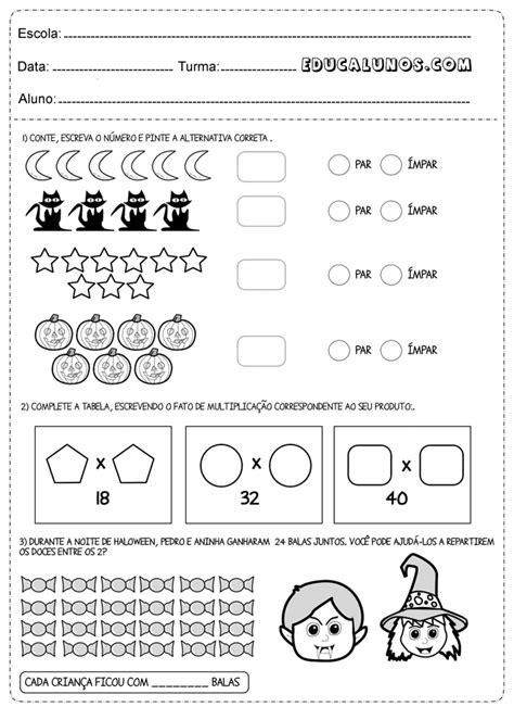 Atividades de matemática 3° anos - Atividades Pedagógicas
