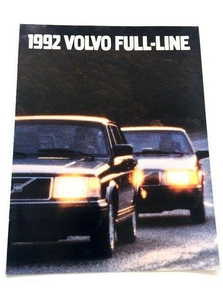 volvo sales brochure   turbo   ebay