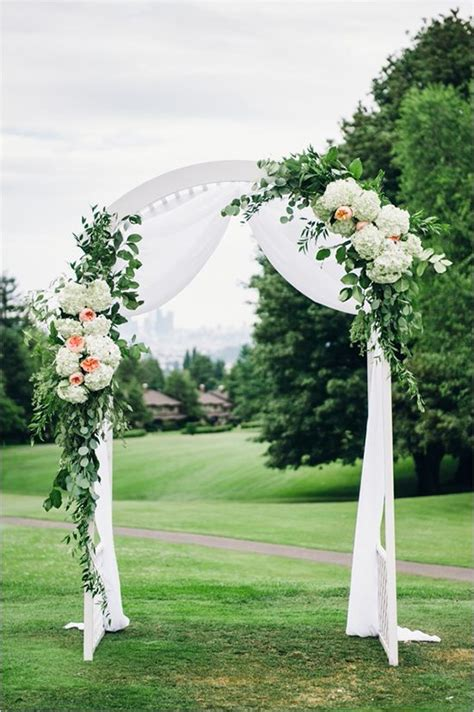 Cheap Fabric For Wedding Draping 25 Best Ideas About Wedding Arch Decorations On Pinterest