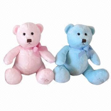 Boneka Teddy Pink Import 30cm plush teddy available in blue and pink color