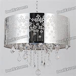 5 Light Chandelier Buy Indoor Chrome Crystal Round Shade Ceiling Chandelier