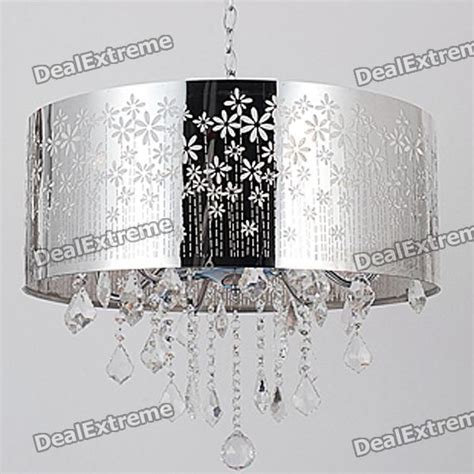 buy indoor chrome crystal round shade ceiling chandelier