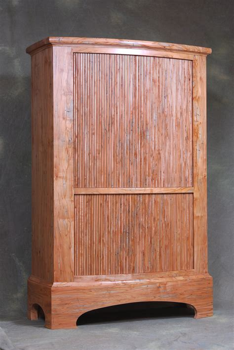 Cabinet Ernst by Ambrosia Maple Tambour Cabinet By Ernst Wood