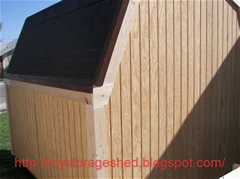 Shed Roof Drip Edge by How To Build A Storage Shed Step 6 Install Storage Shed Trim