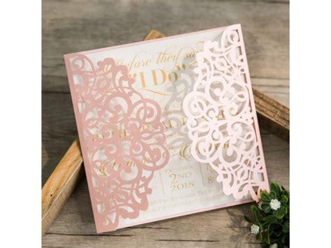 einladungskarten hochzeit rosa lasercut einladungskarte hochzeit quot traum in rosa quot
