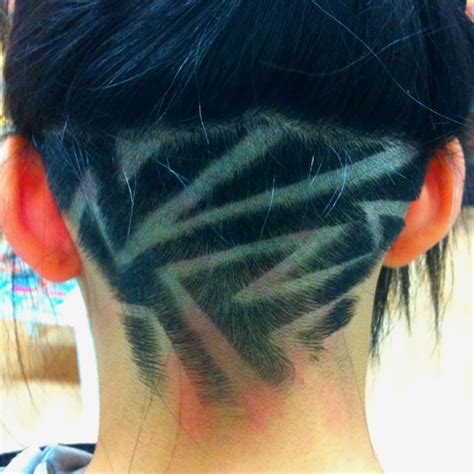 shaved nape with design women nape shaved design women for 2018 best nape haircut