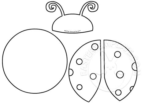 Ladybug Template Free printable ladybug cut out pattern easter template