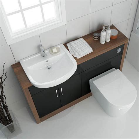 Bathroom Furniture Uk Lucido 1200 Vanity Unit Black Buy At Bathroom City