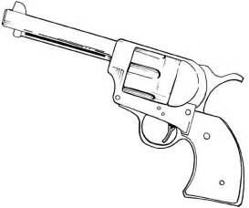 pistol colouring pages