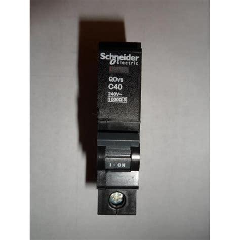 schneider electric qovs c40 40a single pole type c mcb