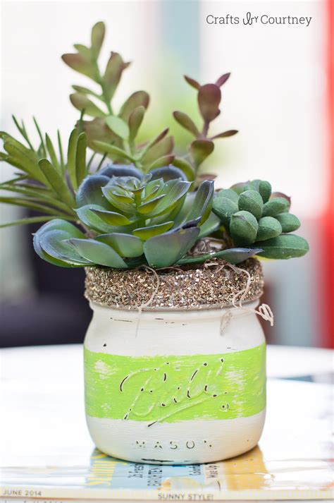 diy succulents craft diy jar succulents mod podge rocks