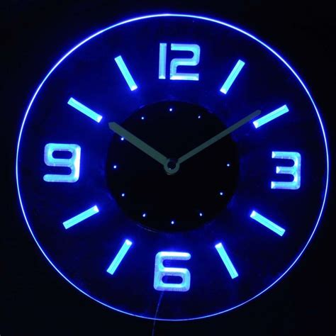 Where To Buy Rustic Home Decor by Cnc2001 B Round Numerals Illuminated Wall Neon Clock Sign