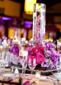 purple candle wedding centerpieces with vaseswedwebtalks
