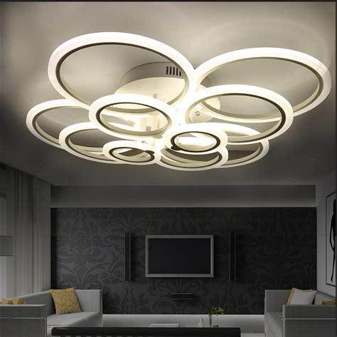 white modern acrylic led ceiling light fixture ring lustre