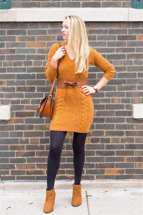 Sweater And sweater dress and tights sweater vest