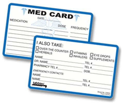 medication pocket card template wallet medication list template search results