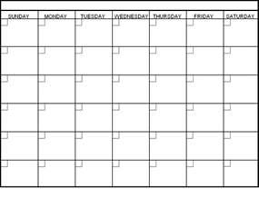 blank calendar template weekly calendar template