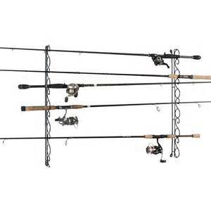 organized fishing 9 capacity wire horizontal ceiling rack