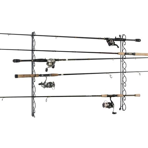 ceiling rod rack organized fishing 9 capacity wire horizontal ceiling rack