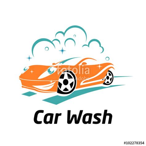 Quot Cute Car Wash Cartoon Mascot Logo Template Quot Stock Image And Royalty Free Vector Files On Car Wash Logo Template Free