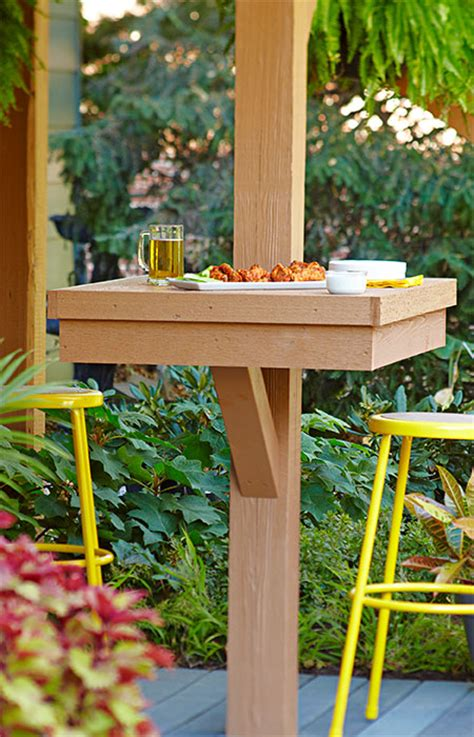 patio table ideas post mounted patio table