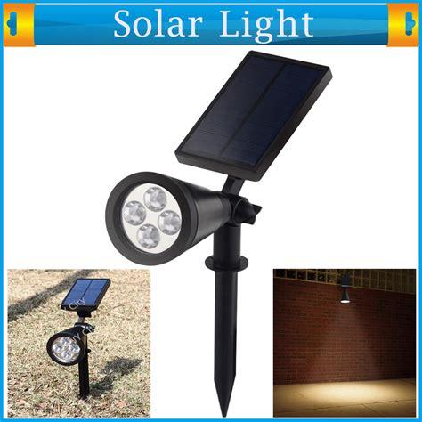 Solar Powered White 4 Led 2w Garden L Spot Light Lawn Solar Spot Lights Reviews