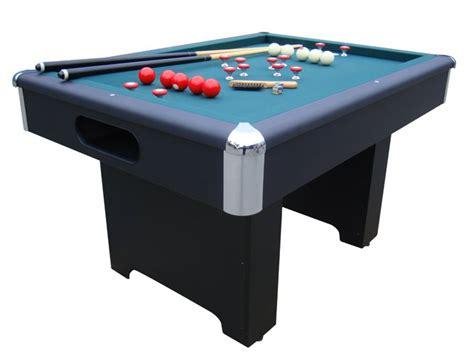 slate bumper pool table black