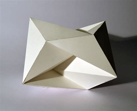 Geometric Paper Folding - abstract geometric forms on risd portfolios