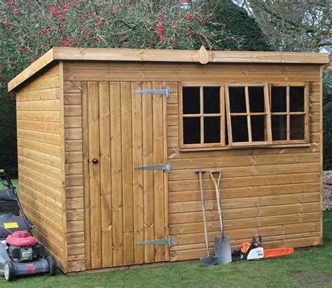 ft  ft heavy duty pent garden shed gardensitecouk