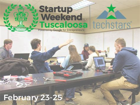 Alabama Stem Mba Program by Startup Weekend Tuscaloosa Where Ideas Become Reality