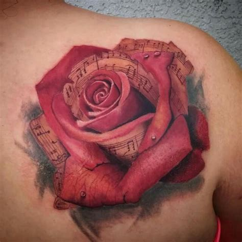 rose bush sleeve tattoo musical by mike bush of hallowed point