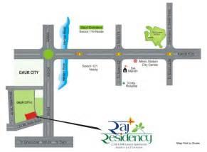 location map raj residency