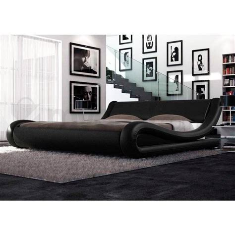 leather bed frames king size leonardo king pu leather curved bed frame in black buy