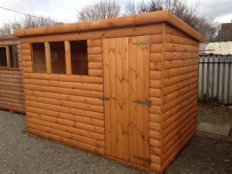 Pent Garden Shed by Deluxe Pent Roof Garden Sheds Megasheds Wales