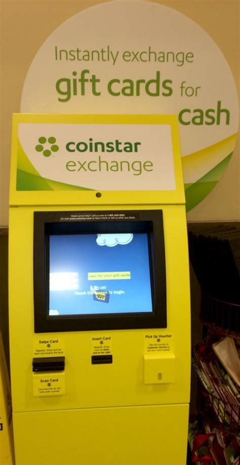 Coinstar Gift Card Exchange Kiosk - gift card exchange giant eagle lamoureph blog