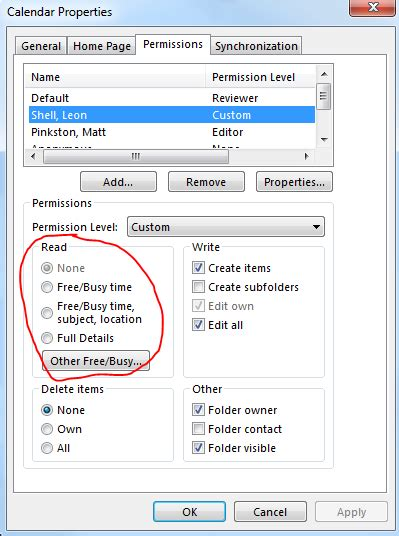 room mailbox permissions setting granular calendar permissions through powershell without using roles
