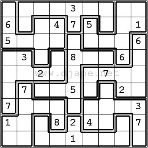printable sudoku jigsaw puzzles sudoku variations puzzles